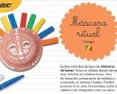 Actividad máscara ritual africana